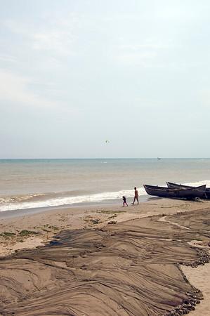 Beach at Vama Veche, Black Sea coast, The Dobrogea, Romania