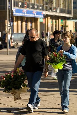 Flower market, Warsaw, Poland