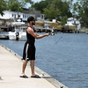 Fishing from dock in Saugus