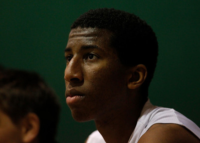Palo Alto High School's Aubrey Dawkins (33) sits on the bench towards the end of their 56-25 win against Cupertino High School late in the fourth period at Palo Alto High School in Palo Alto, Calif. on Tuesday, Jan. 15, 2013.  (Nhat V. Meyer/Staff)