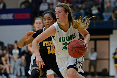Miramonte's Sabrina Ionescu (20) drives past Bishop O'Dowd's Myah Pace (10) during the third period of their North Coast Section Division 3 girls basketball championship game at McKeon Pavilion in Moraga, Calif., on Saturday, March 5, 2016. (Jose Carlos Fajardo/Bay Area News Group)