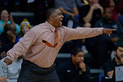 Moreau Catholic head coach Frank Knight gestures while playing Miramonte during the second period of their North Coast Section Division 3 boys basketball championship game at McKeon Pavilion in Moraga, Calif., on Saturday, March 5, 2016. (Jose Carlos Fajardo/Bay Area News Group)