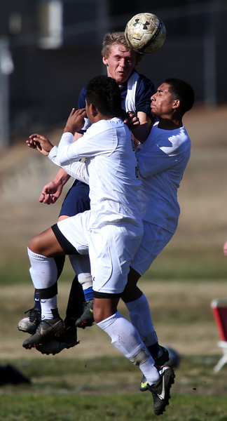 Hayward High School hosts Campolindo in a boys varsity soccer match