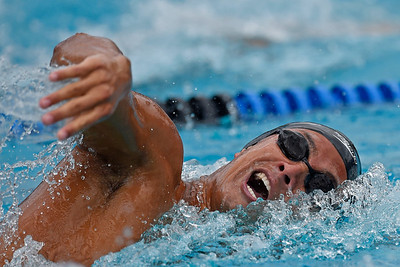 Granada High School's Maxime Rooney competes in the boys 200-yard freestyle finals during the 2016 NCS Swimming & Diving Championship Meet at the Concord Community Pool in Concord, Calif., on Saturday, May 14, 2016. Rooney would break a national high school record with a time of 1:33.70. The old record 1:33.83 was set in 2009 by Tom Shields. (Jose Carlos Fajardo/Bay Area News Group)