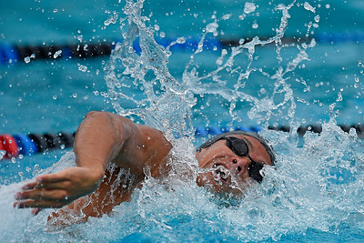 Granada High School's Maxime Rooney competes in the boys 200-yard freestyle final during the 2016 NCS Swimming & Diving Championship Meet at the Concord Community Pool in Concord, Calif., on Saturday, May 14, 2016. Rooney would break a national high school record with a time of 1:33.70. The old record 1:33.83 was set in 2009 by Tom Shields. (Jose Carlos Fajardo/Bay Area News Group)