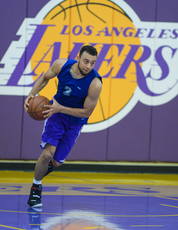 . Nigel Williams-Goss of Gonzaga works out for the Lakers in El Segundo on Monday, May 22, 2017. The Lakers brought in several players to evaluate for their 28th pick in the first round of the upcoming NBA draft. (Photo by Scott Varley, Daily Breeze/SCNG)