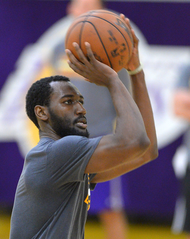 . Dominique Hawkins of Kentucky works out for the Lakers in El Segundo on Monday, May 22, 2017. The Lakers brought in several players to evaluate for their 28th pick in the first round of the upcoming NBA draft. (Photo by Scott Varley, Daily Breeze/SCNG)