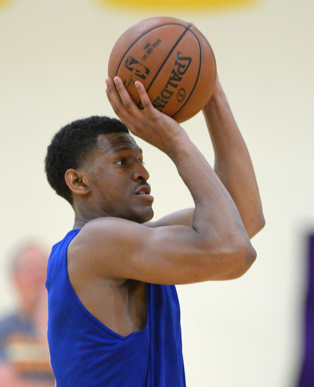 . Andrew White of Syracuse works out for the Lakers in El Segundo on Monday, May 22, 2017. The Lakers brought in several players to evaluate for their 28th pick in the first round of the upcoming NBA draft. (Photo by Scott Varley, Daily Breeze/SCNG)