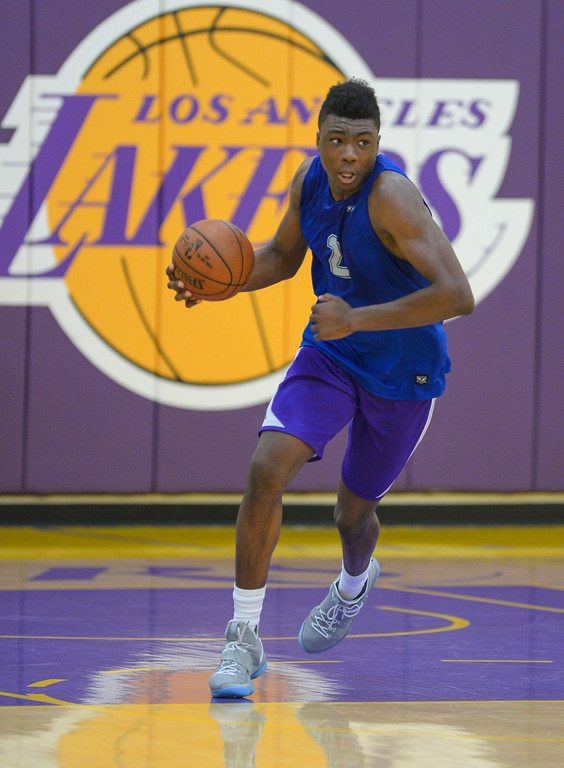 . Thomas Bryant of Indiana works out for the Lakers in El Segundo on Monday, May 22, 2017. The Lakers brought in several players to evaluate for their 28th pick in the first round of the upcoming NBA draft. (Photo by Scott Varley, Daily Breeze/SCNG)