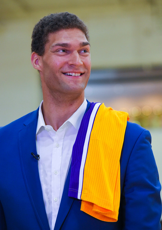 . Lakers new center Brook Lopez in El Segundo on Wednesday, June 28, 2017. The Lakers acquired Lopez and forward Kyle Kuzma from the Brooklyn Nets in exchange for Timofey Mozgov and D�Angelo Russell. (Photo by Scott Varley, Daily Breeze/SCNG)