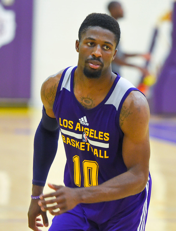 . David Nwaba practices with the team in El Segundo on Wednesday, July 5, 2017. The newest Lakers players are getting ready for Summer League games starting Friday in Las Vegas. (Photo by Scott Varley, Daily Breeze/SCNG)