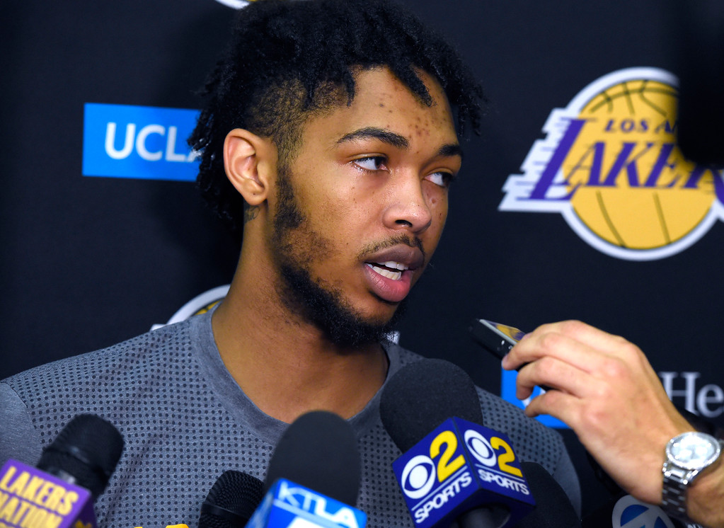 . Lakers\'s Brandon Ingram talks about the upcoming Summer League after practice in El Segundo on Wednesday, July 5, 2017. The newest Lakers players are getting ready for Summer League games starting Friday in Las Vegas. (Photo by Scott Varley, Daily Breeze/SCNG)