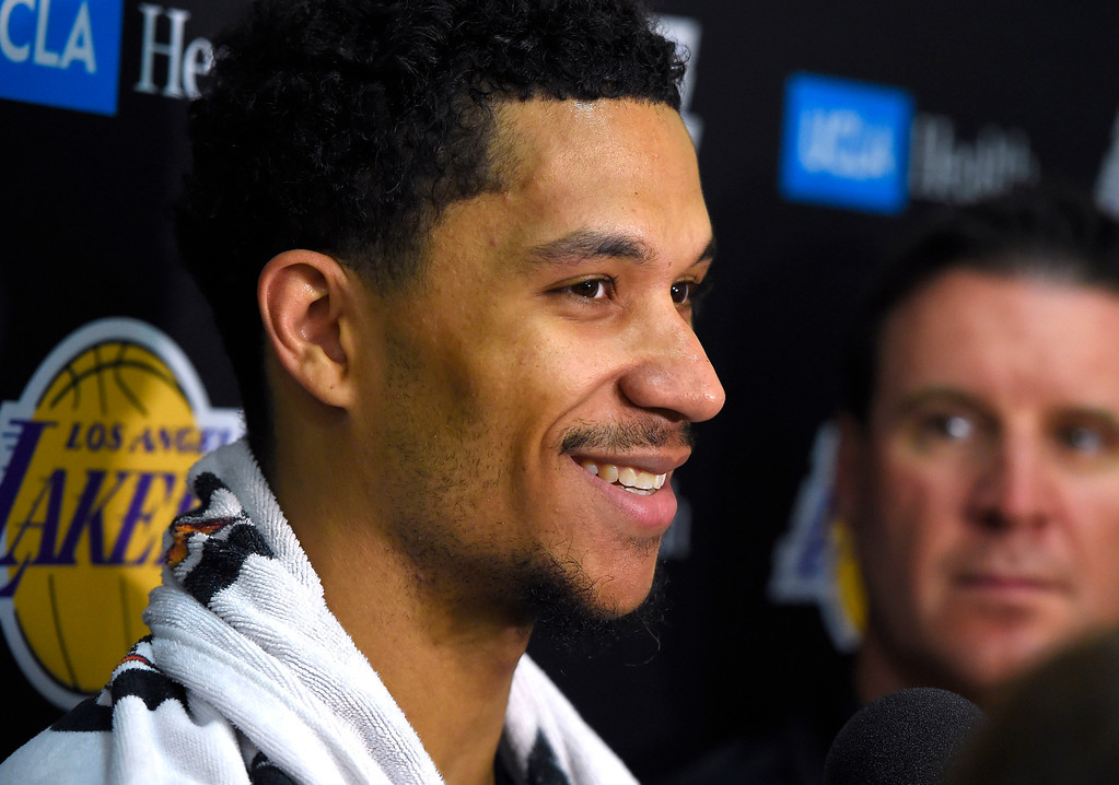 . Lakers #30 draft pick Josh Hart talks about the upcoming Summer League games after practice in El Segundo on Wednesday, July 5, 2017. The newest Lakers players are getting ready for Summer League games starting Friday in Las Vegas. (Photo by Scott Varley, Daily Breeze/SCNG)
