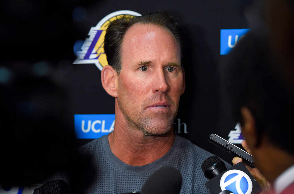 . Lakers Summer League coach Jud Buechler talks about the games in El Segundo on Wednesday, July 5, 2017. The newest Lakers players are getting ready for Summer League games starting Friday in Las Vegas. (Photo by Scott Varley, Daily Breeze/SCNG)