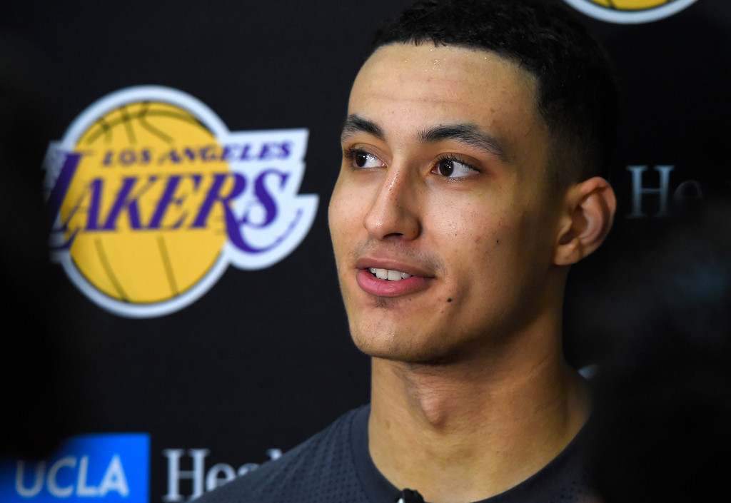. Lakers #27 draft pick Kyle Kuzma talks about the upcoming Summer League games after practice in El Segundo on Wednesday, July 5, 2017. The newest Lakers players are getting ready for Summer League games starting Friday in Las Vegas. (Photo by Scott Varley, Daily Breeze/SCNG)