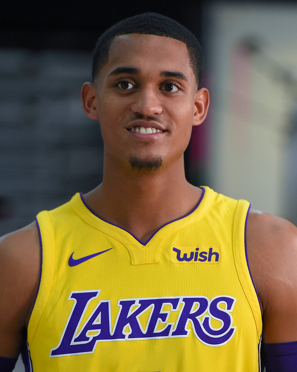 . Jordan Clarkson is interviewed during the Lakers media day event at their new training facility in El Segundo on Monday, September 25, 2017. (Photo by Scott Varley, Daily Breeze/SCNG)