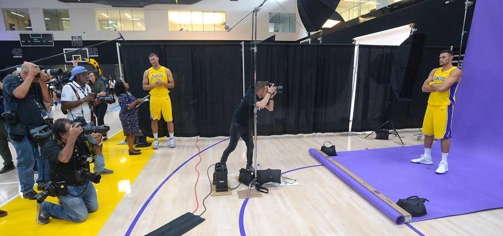 . Larry Nance, Jr. is photographed during the Lakers media day event at their new training facility in El Segundo on Monday, September 25, 2017. (Photo by Scott Varley, Daily Breeze/SCNG)