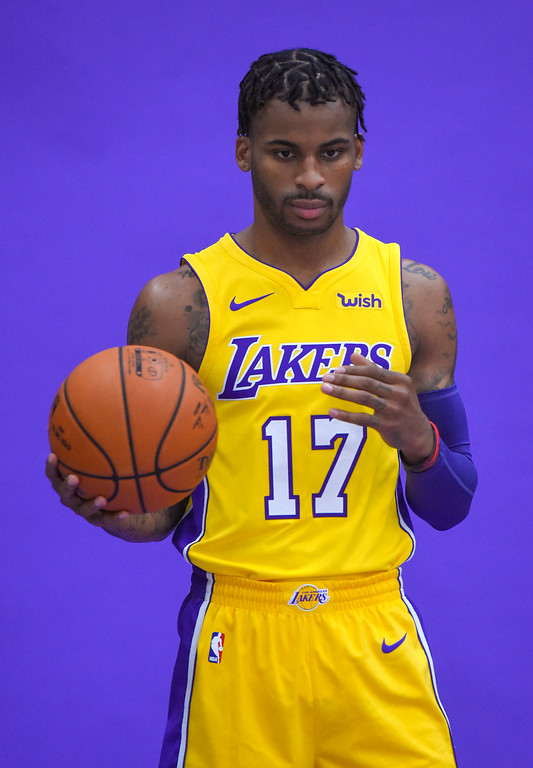 . Vander Blue is photographed during the Lakers media day event at their new training facility in El Segundo on Monday, September 25, 2017. (Photo by Scott Varley, Daily Breeze/SCNG)