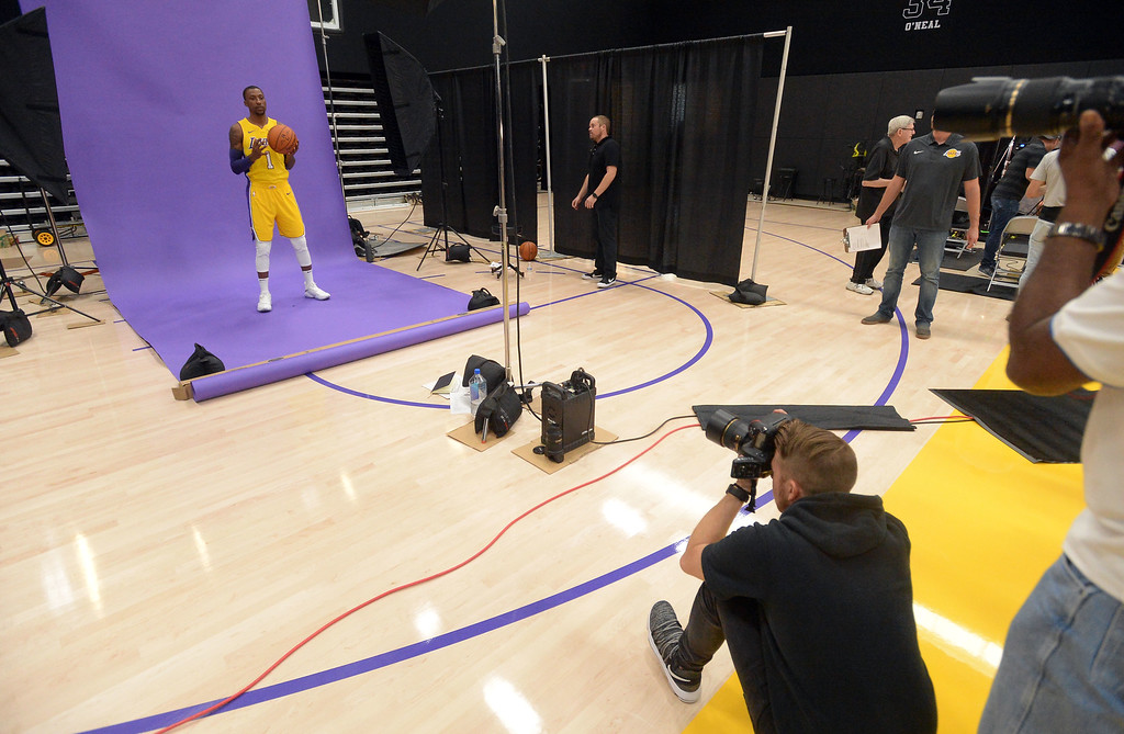 . Kentavious Caldwell-Pope is photographed during the Lakers media day event at their new training facility in El Segundo on Monday, September 25, 2017. (Photo by Scott Varley, Daily Breeze/SCNG)