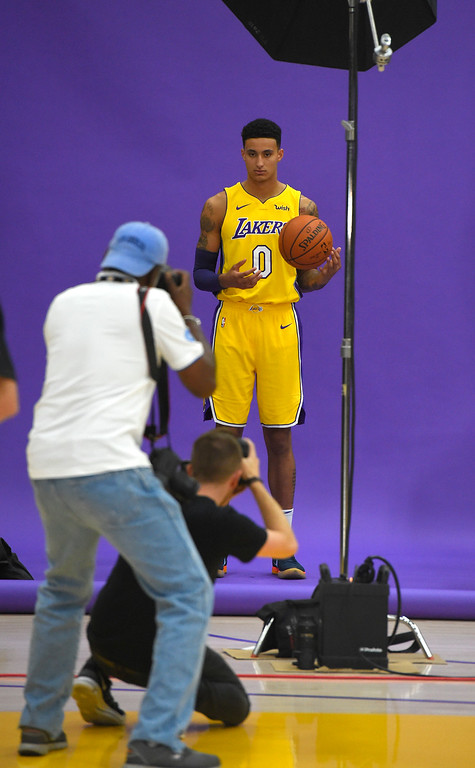 . Kyle Kuzma is photographed at the Lakers media day event at their new training facility in El Segundo on Monday, September 25, 2017. (Photo by Scott Varley, Daily Breeze/SCNG)