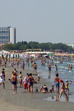 Beach at Mamaia, Black Sea, Romania