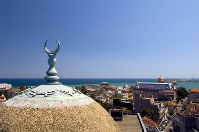Mahmudiye Mosque and view towards the sea, Constanta, Black Sea coast, Romania