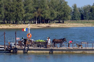 Ferry crossing , Mahmudia, The Danube Delta, Dobrogea, Romania