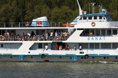 Ferry Tulcea - Sfantu Gheorghe passing Mahmudia, The Danube Delta, Dobrogea, Romania
