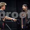 Sam Buckner for Shaw Media.<br /> Grace Dommel recievers her diploma from Dist 428 school board member Victoria Newport. Domel was the DHS class of 2017 Valedictorian.