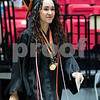 Sam Buckner for Shaw Media.<br /> Destinee Feliciano walks out of the tunnel at the Convocation center on Saturday June 3, 2017 at the DHS graduation ceramony.
