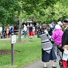 Crowds of people line up for the free train rides offered by The Lakeshore Live Steamers at  Penitentiary Glen Reservation  during the Railroads in the Parks events. <br /> Kristi Garabrandt-The News-Herald.