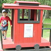 Kids play on the train  at Penitentiary Glen Reservation known as the Recycled Express because it is made from 97 percent recycled materials such as milk jugs.  Kristi Garabrandt - The News Herald​