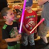 Boys with their light sabers, Star Wars Night