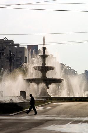 Fountains on Piata Unirii, Bucharest, Wallachia, Romania