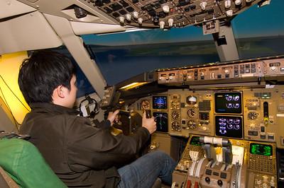 Flight simulater; visit to ANA training centre organised by Masahirosan