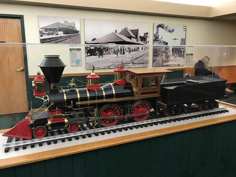 A model train is on display inside The National Railroad Museum. (Harley Marsh - The News-Herald)