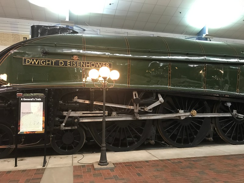 The Dwight D. Eisenhower sits inside The National Railroad Museum. (Harley Marsh - The News-Herald)