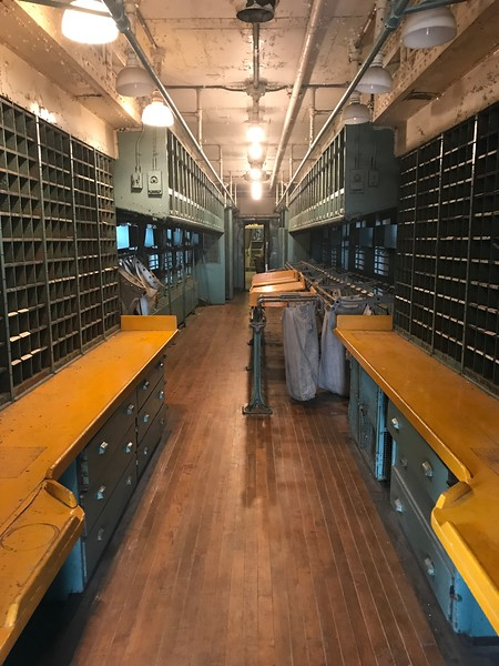 A mail car is shown in this image at The National Railroad Museum. (Harley Marsh - The News-Herald)