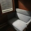 Light shines on a seat at The National Railroad Museum. (Harley Marsh - The News-Herald)