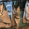 Mail was placed in these mail bags on display at The National Railroad Museum. (Harley Marsh - The News-Herald)