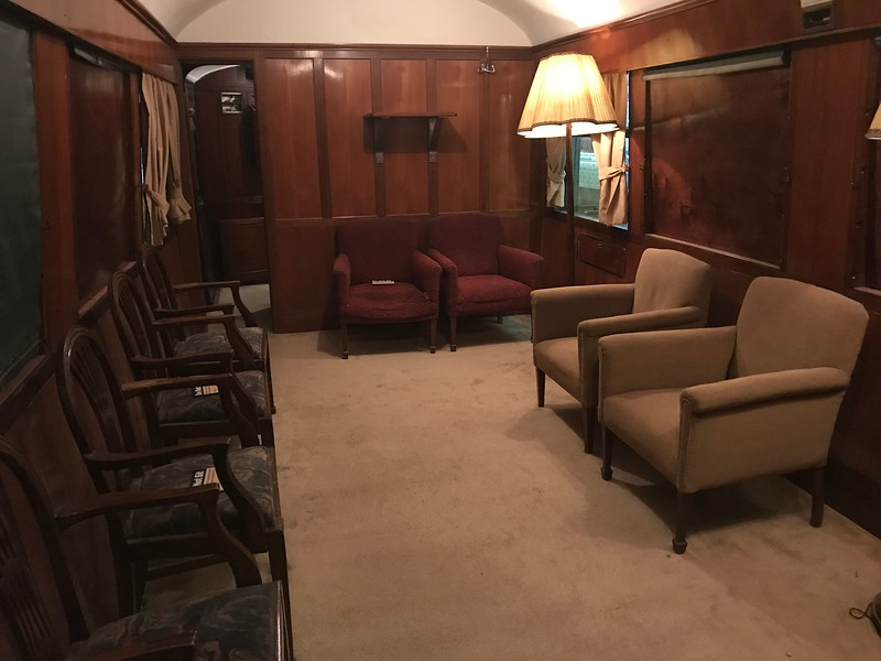 This common area is in a train open for touring at The National Railroad Museum. (Harley Marsh - The News-Herald)