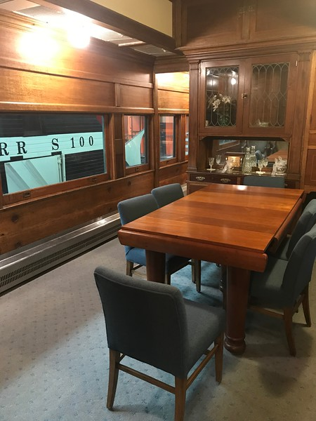 This photo shows a dining car at The National Railroad Museum. (Harley Marsh - The News-Herald)