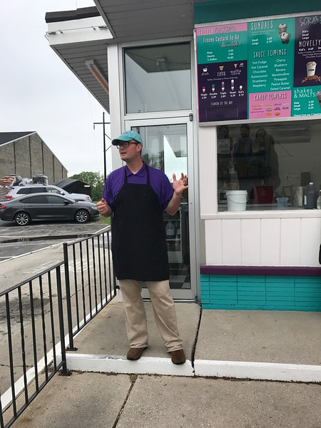 Ted Zieman, co-owner of Zesty's Frozen Custard, talks the about fresh, local ingredients that make the custard so great. (Harley Marsh - The News-Herald)