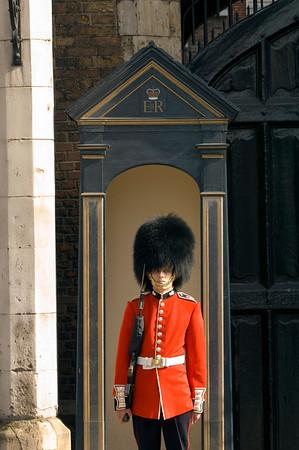Guards at St James's Palace, London, United Kingdom
