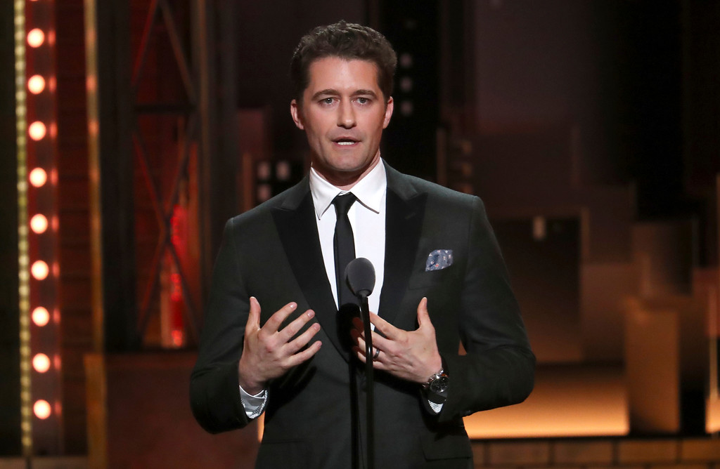 . Matthew Morrison presents a performance by the Marjory Stoneman Douglas High School drama department at the 72nd annual Tony Awards at Radio City Music Hall on Sunday, June 10, 2018, in New York. (Photo by Michael Zorn/Invision/AP)