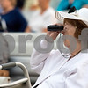 Sam Buckner for Shaw Media.<br /> Anne Sobol of Heritage Woods looks through binoculars at the performance on Tuesday, June 13, 2017. Sobol used to be a professional singer.