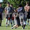 Hiawatha High School football players go through drills on Thursday in Kirkland.  Steve Bittinger - For Shaw Media