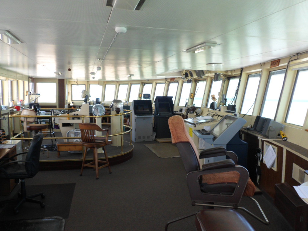 . Submitted photo - Ed Bansek <br> The iron ore freighter Roger Blough, built in Lorain and known partly for the fire that killed four workers, departed the city on June 15, 1972, on its maiden voyage. This photo shows the pilot house of the vessel.