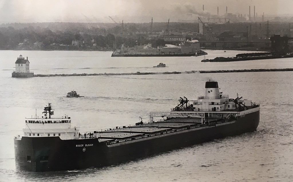 ". Tom Whittington - The Morning Journal <br> This photo from June 12, 1972, was captioned: ""The mighty Roger Blough moveso ut on Lake Erie to begin 16 hours of grueling sea tests.\"""