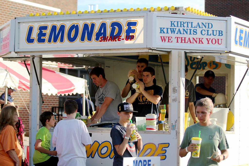 . Jonathan Tressler � The News-Herald <br> Lemonade gets served at the 58th Annual Kirtland Kiwanis Strawberry Festival June 15.
